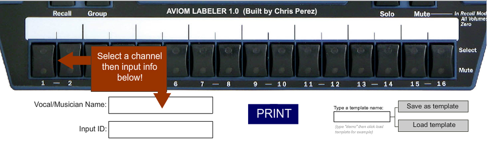 Aviom User Creates A-16II Labeling Program : Aviom Blog