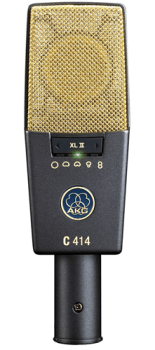 The AKG C414 is a multi-pattern mic that can be switched to any of five polar patterns.