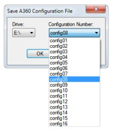 Choose a drive and configuration number.