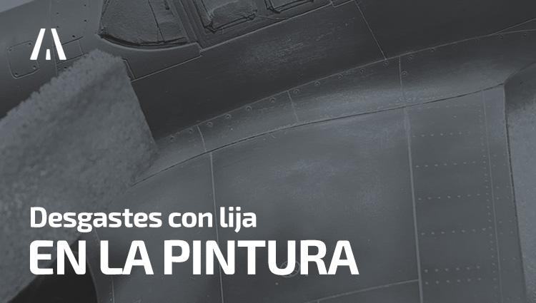P-51 Mustang: Desgastes con lija en la pintura