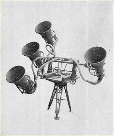 Détecteur acoustique sur pied Fin années 1930