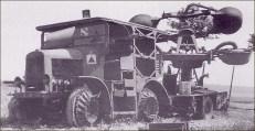 1943 – Matériel français sur le front de l'Est – Tracteur Latil et remorque BBT