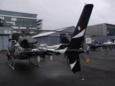 Vue arrière du Fennec de l'Armée de l'Air.