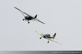 Chipmunk et Piper Cub - Meeting Armée de l'Air - Nancy 2014