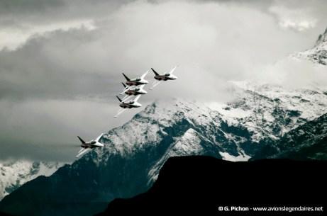 Patrouille aérienne suisse sur F-5 Tiger II - Axalp 2012