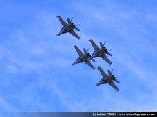 Formation de 4 F/A-18 Hornet - Axalp 2010