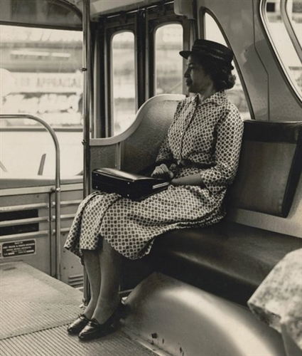 Rosa Parks Re Enacts Sitting In The Front Of The Bus 1965