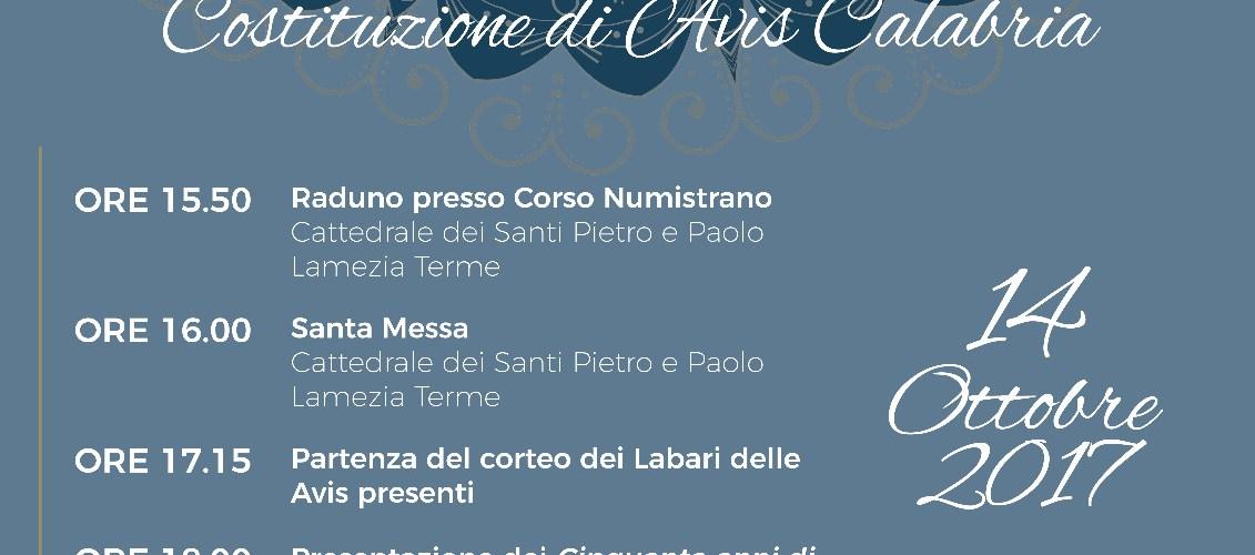 50° Anniversario di Avis Calabria