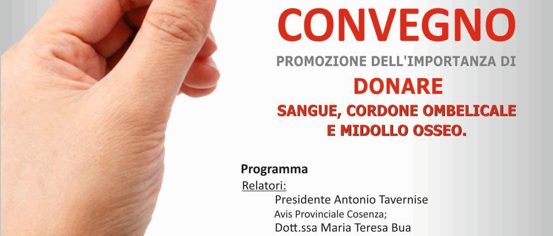 """""""Dona un semplice gesto… per la vita"""" a Roseto C. S. 28 ottobre 2017"""