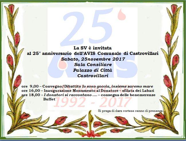 25° anniversario della Comunale Avis di Castrovillari