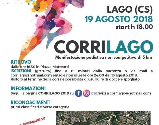 """Avis Lago organizza una nuova edizione della  manifestazione podistica """"CorriLago 2018"""""""