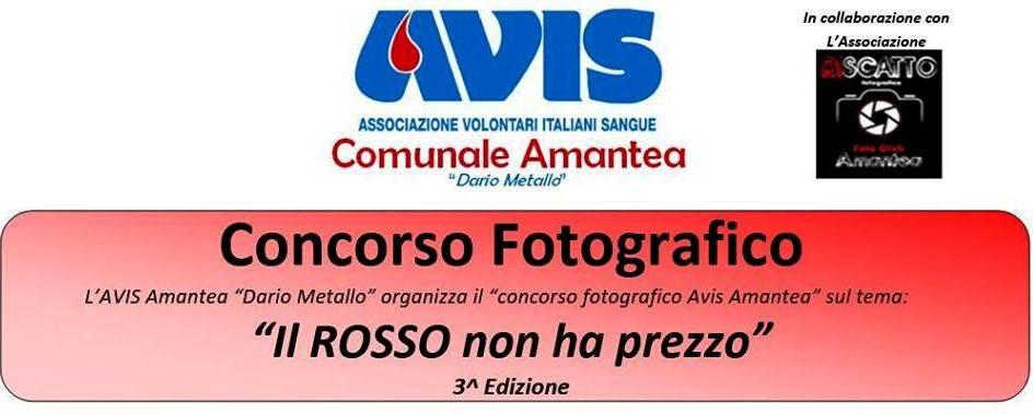 """AVIS Amantea """"Dario Metallo"""" organizza il concorso fotografico """"Il ROSSO non ha prezzo"""""""
