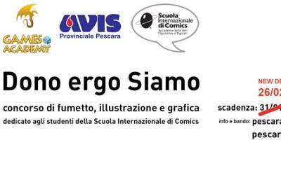 Concorso di grafica Avis Provinciale Pescara in collaborazione con Scuola Internazionale di Comics
