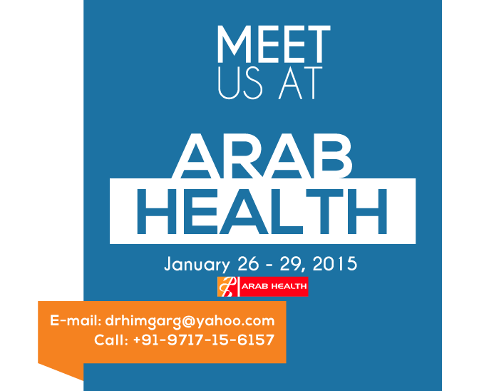 Visit Us At The Arab Health 2015 26-29 January 2015