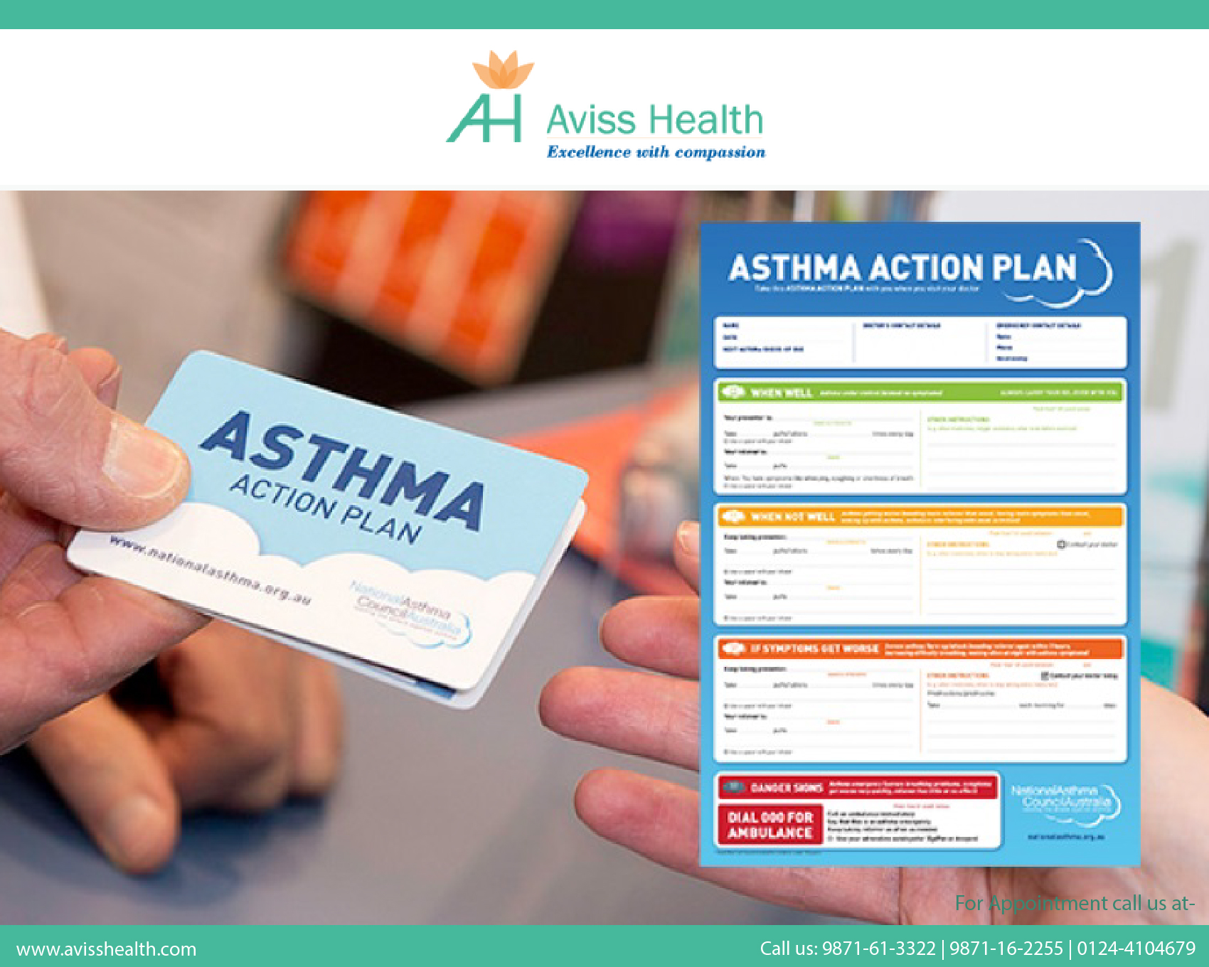 Why should asthma patients maintain a written action plan?