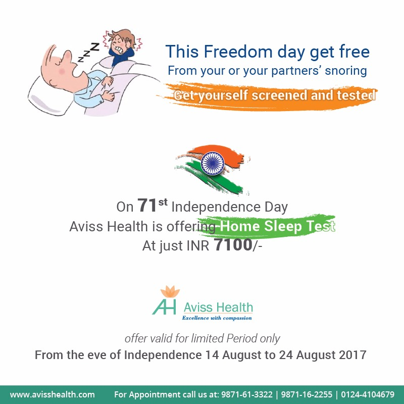 This Freedom day get free From your or your partners' snoring