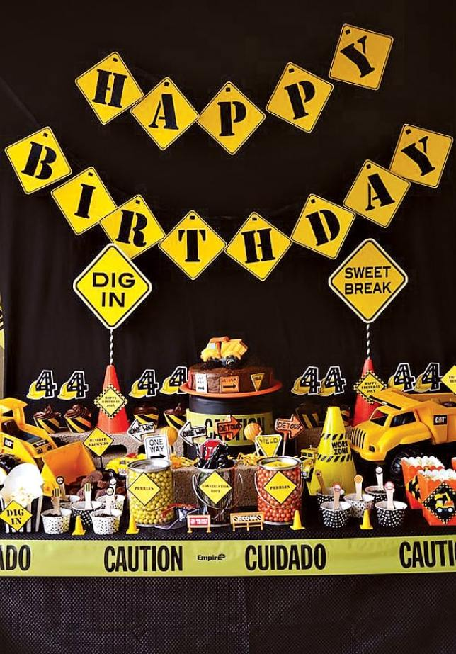 construction toddler birthday party theme idea