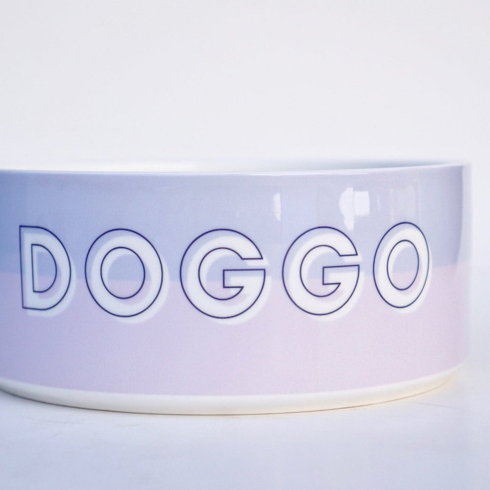 pink and purple name dog bowl etsy gift
