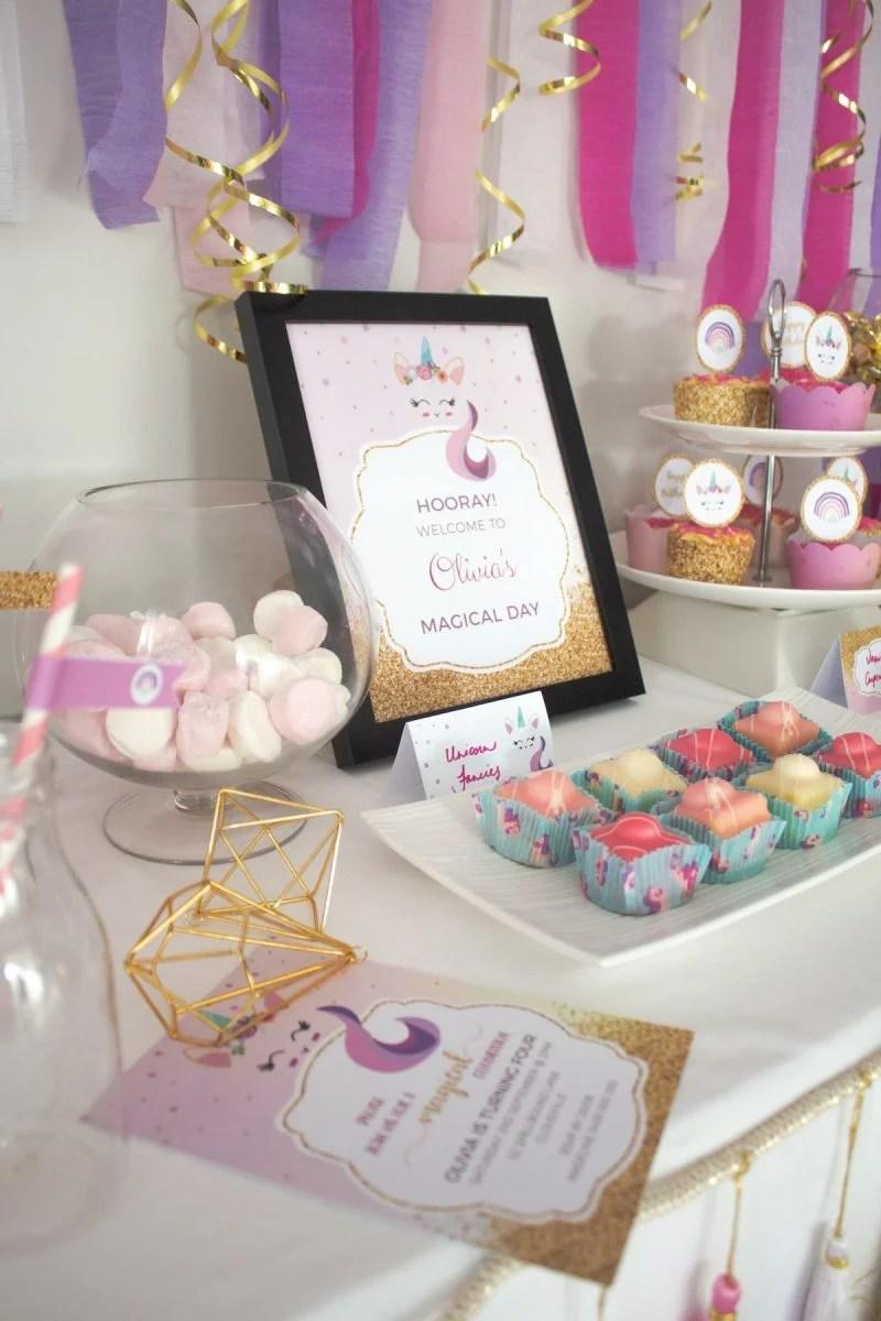 enchanting unicorn birthday party