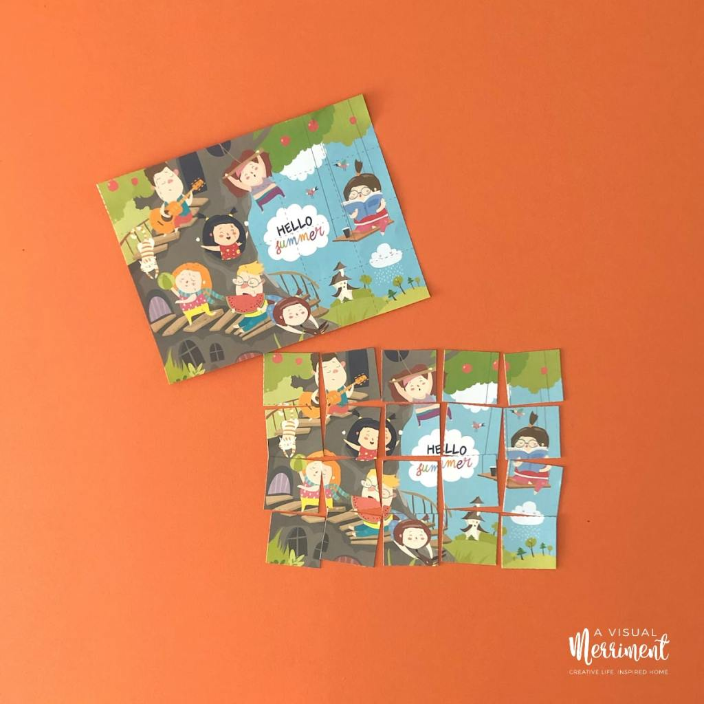 hello summer made puzzle activity