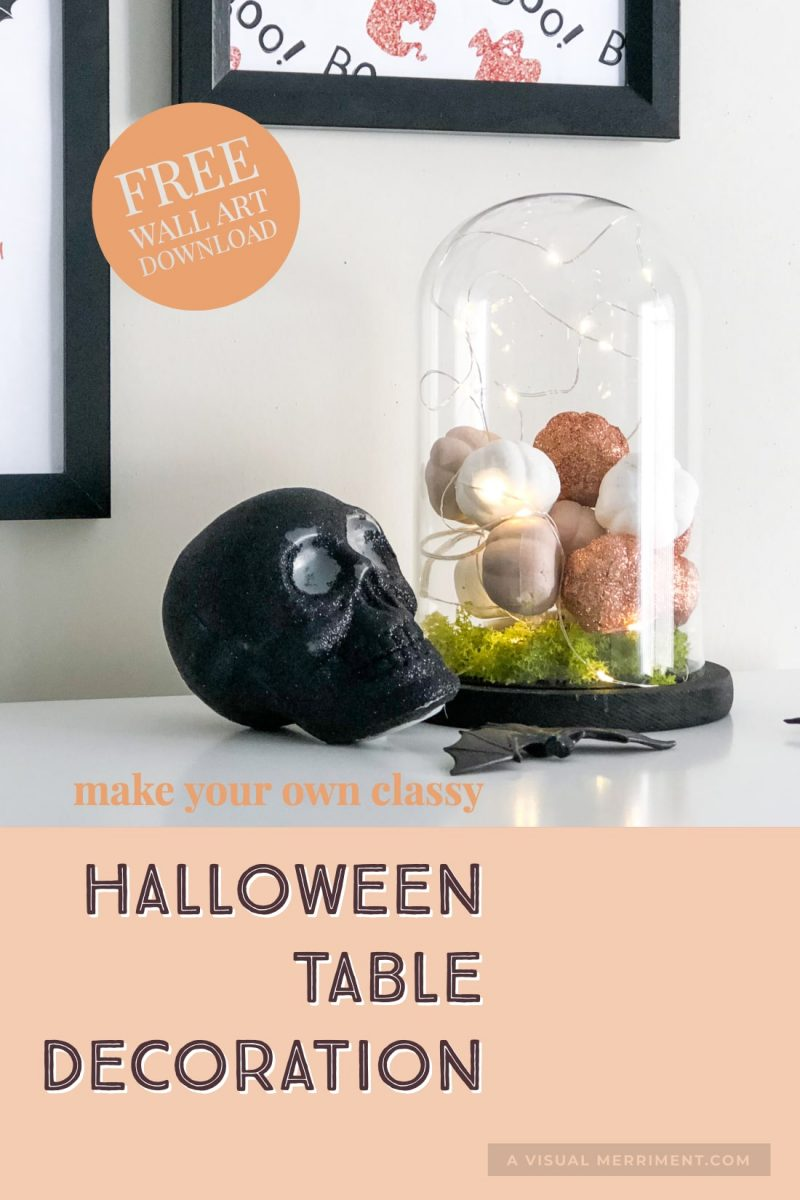 Spooky sophisticated halloween glass dome decor craft