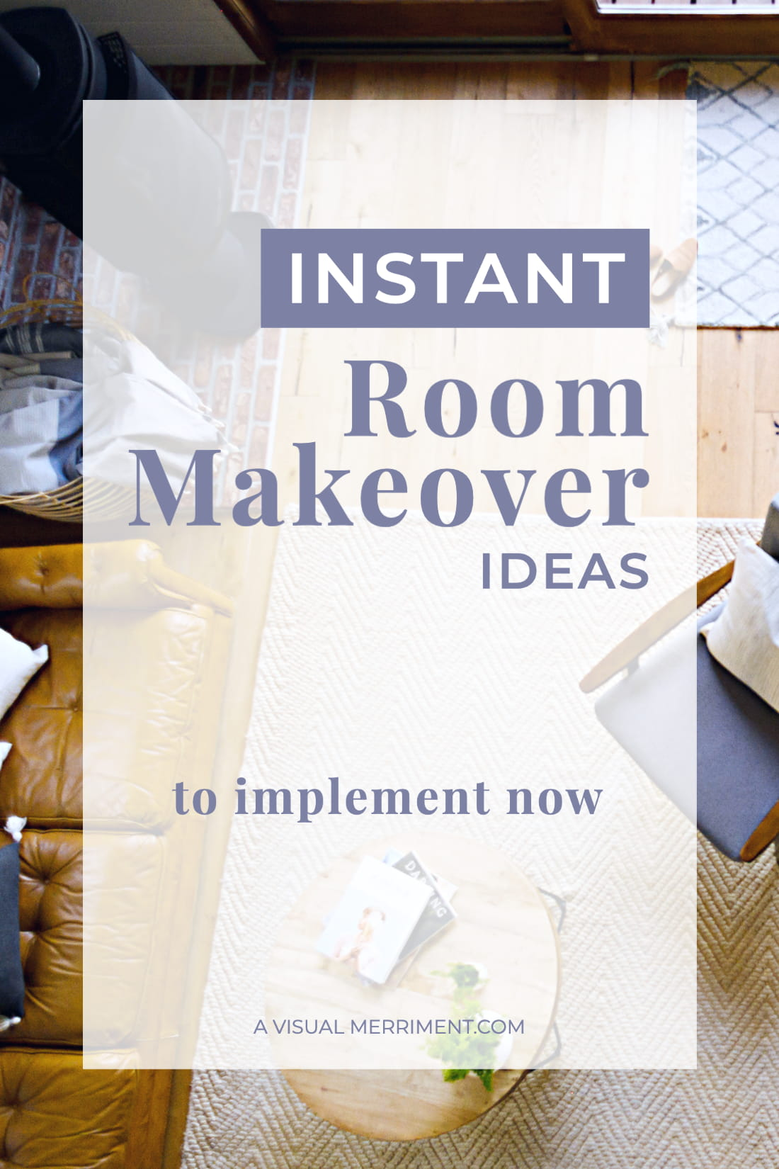 lounge room instant room makeover text overlay