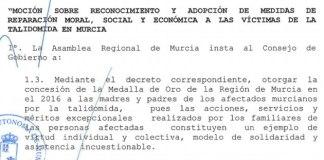 Resultado de búsqueda talidomida grunenthal Se quedan sin Medalla de Oro los afectados de Talidomida y familiares aprobada por la Asamblea de Murcia