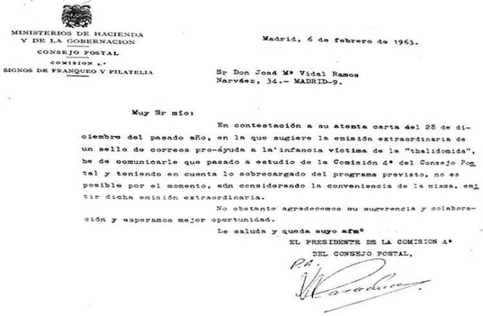Resultado de búsqueda talidomida grunenthal Correos no autorizada tirada sellos 1963 JOSÉ MARÍA VIDAL RAMOS VETERINARIO JUBILADO FILATÉLICO FILATELIA