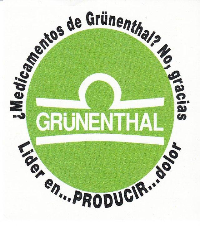¿Medicamentos de Grünenthal?, no gracias. Líder en PRODUCIR dolor.
