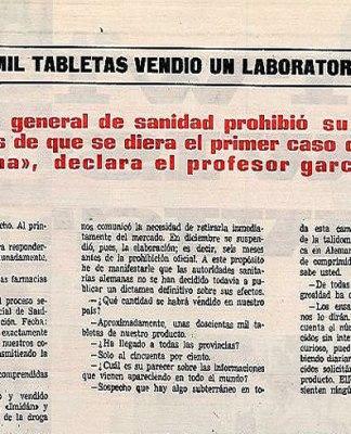 Resultado de búsqueda Grunenthal Ya se sabía lo de la talidomida en los 60 en España