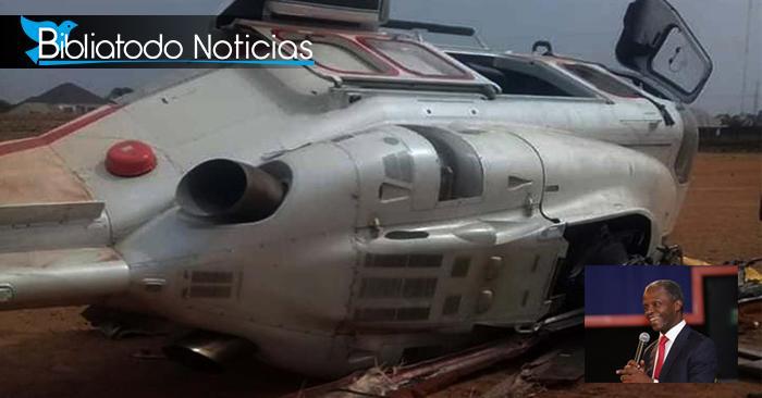 Dios lo rescató de una muerte segura: Vicepresidente cristiano de Nigeria sobrevive a accidente de helicóptero