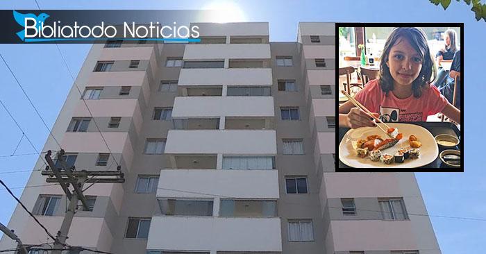 Clara pereira (Recuadro) y el edificio ubicado en Belo Horizonte del cual cayó y sobrevivió milagrosamente