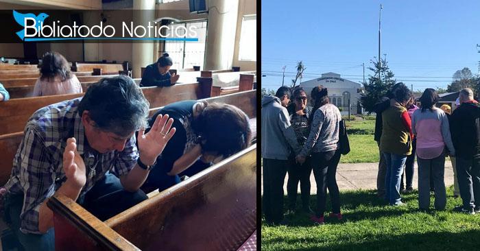 Iglesias de Chile orando por la restauración del orden social de la nación