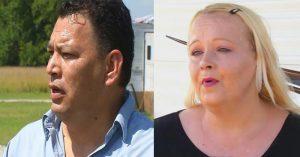 Danny y Amie Tiger - pareja cristiana que intervino en el accidente.