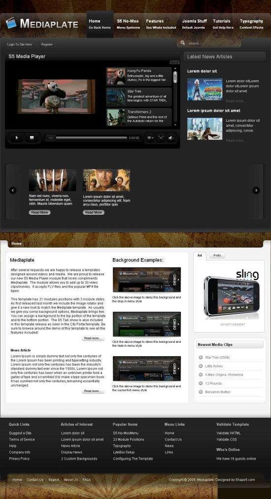 mediaplate avjthemescom joomla - Mediaplate