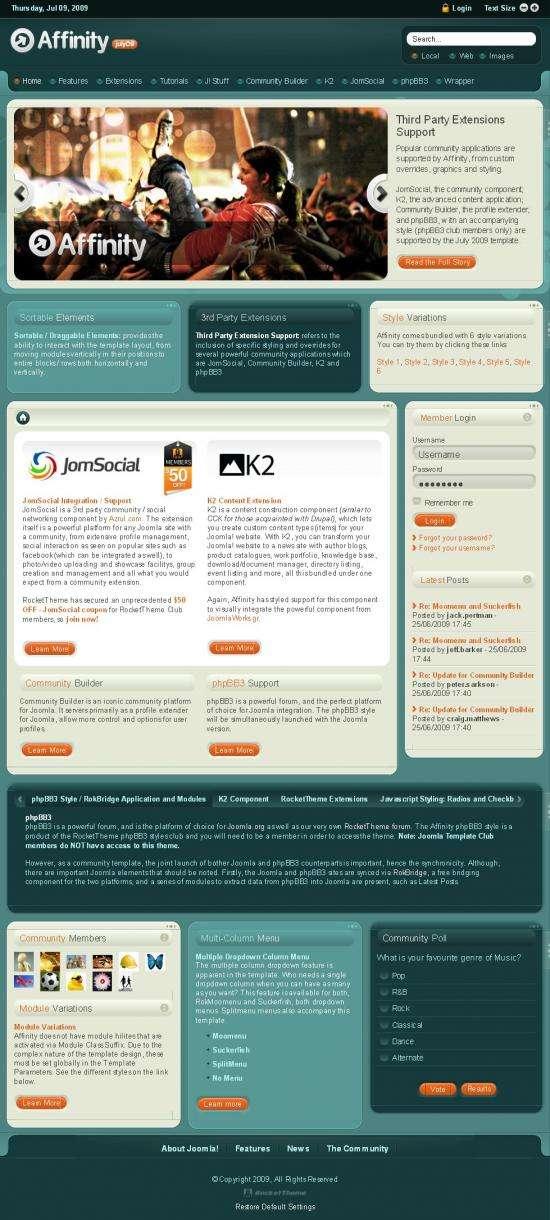 affinity rockettheme avjthemescom.thumbnail - Affinity Joomla Template