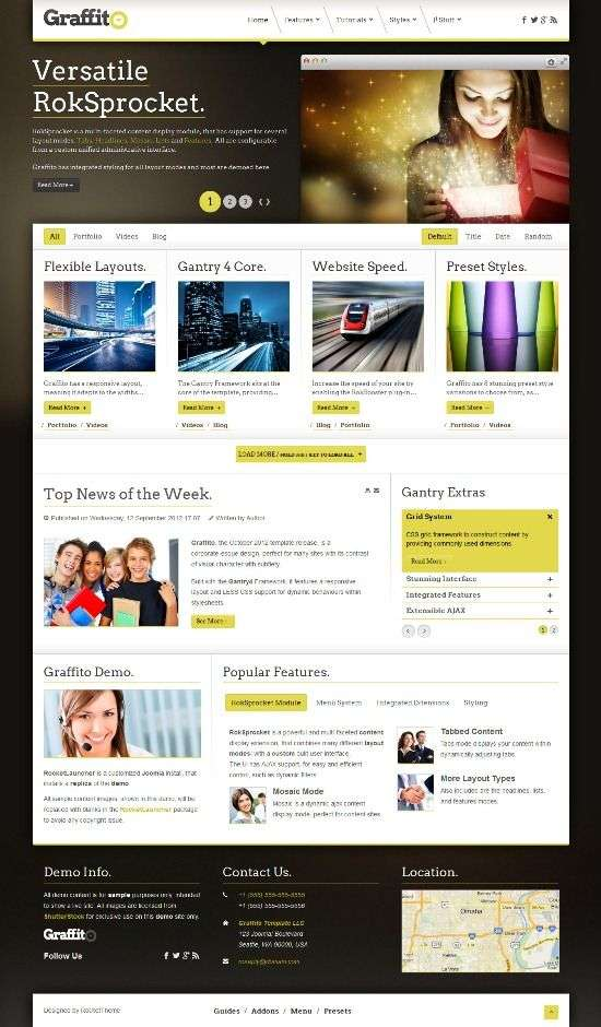 graffito rockettheme avjthemescom 01 - Graffito Joomla Template