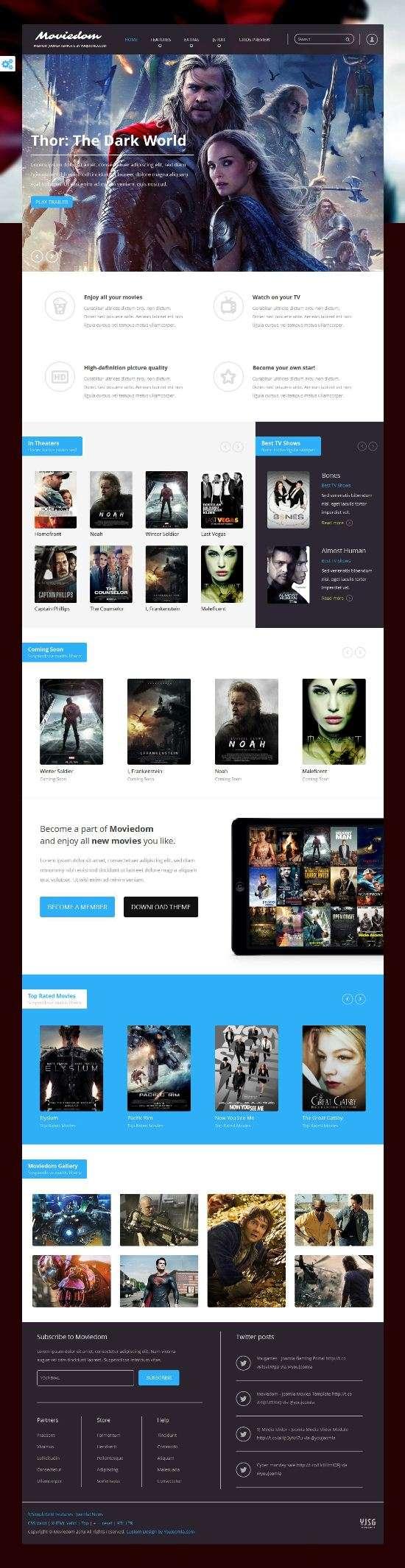 moviedom youjoomla avjthemescom 01 - Moviedom Joomla Template
