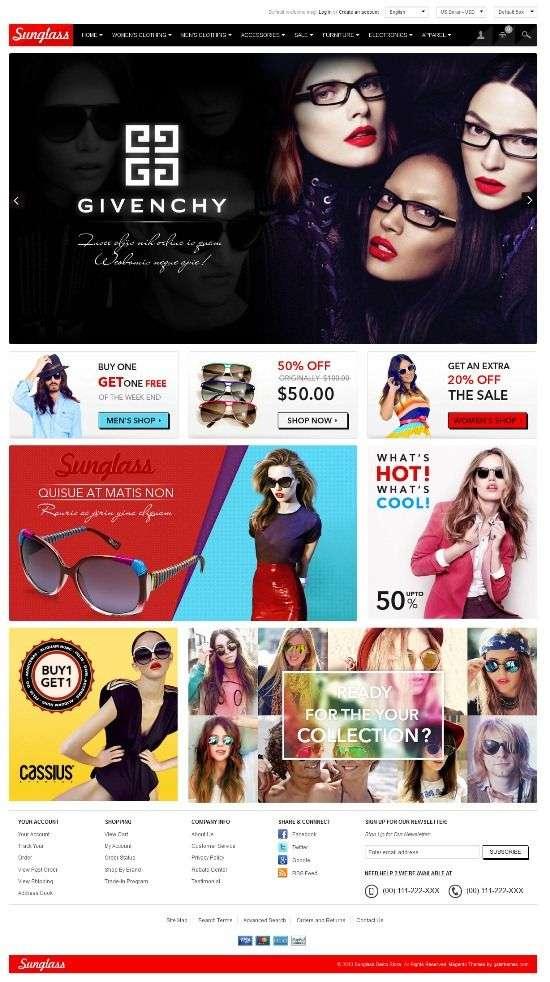 gala sunglasses galathemes avjthemescom 01 - Gala Sunglasses Magento Theme