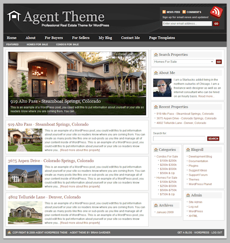 agent 1a - Agent 3.0 Wordpress Theme