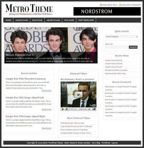 metro - Metro Theme - Premium Wordpress Theme