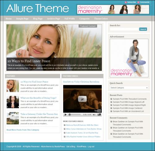 allure studiopress avjthemescom - Allure Wordpress Theme