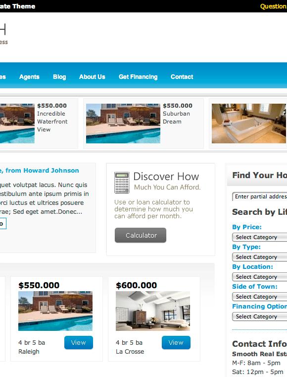 smooth1 - Smooth Real Estate - Wordpress Theme