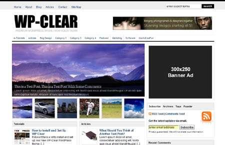 wp clear avjthemescom - WP-Clear Wordpress Theme