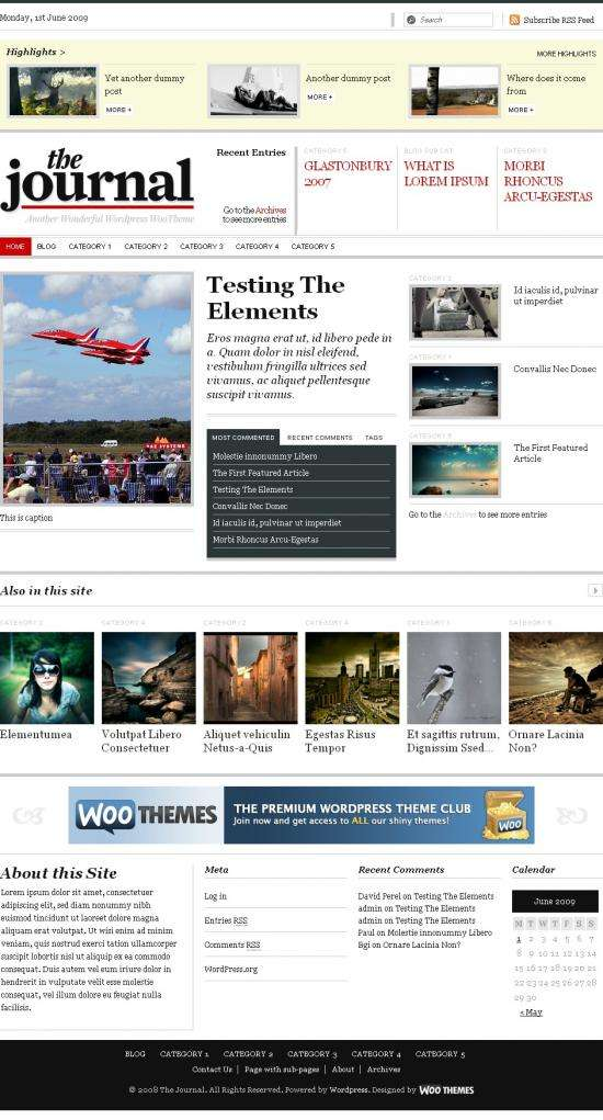 the journal avjthemescom woothemes - The Journal Wordpress Theme