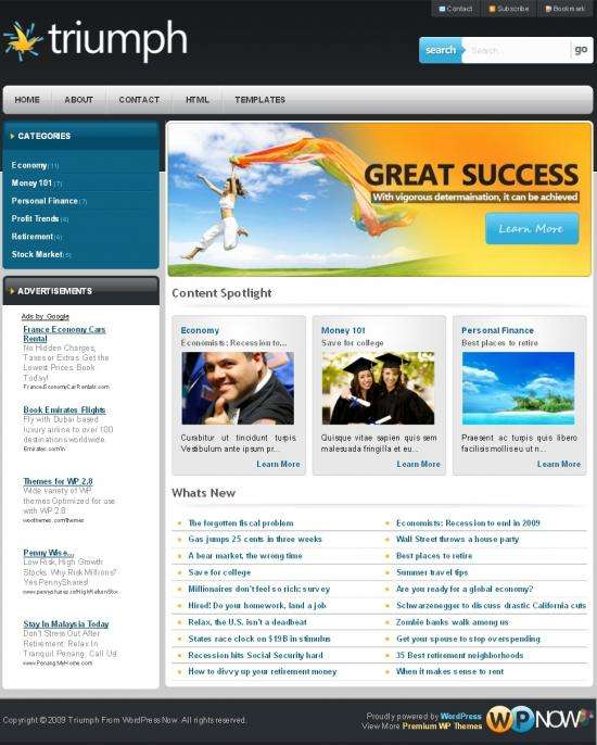 triumph wpnow avjthemescom - Triumph WordPress Theme