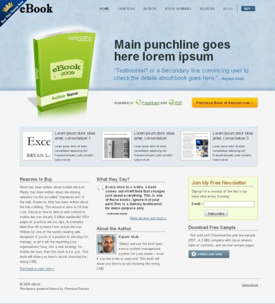 ebook premiumthemes avjthemes 550x607 - eBook Wordpress Theme