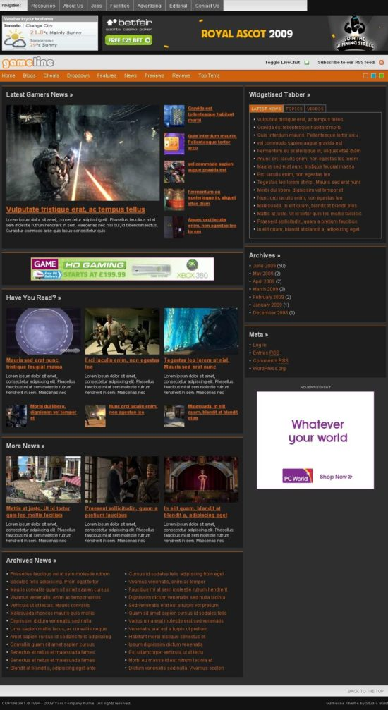 gameline avjthemescom stylewp theme 550x1007 - Gameline Wordpress Theme