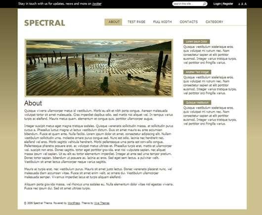 spectral viva wordpress theme - Spectral Wordpress Theme