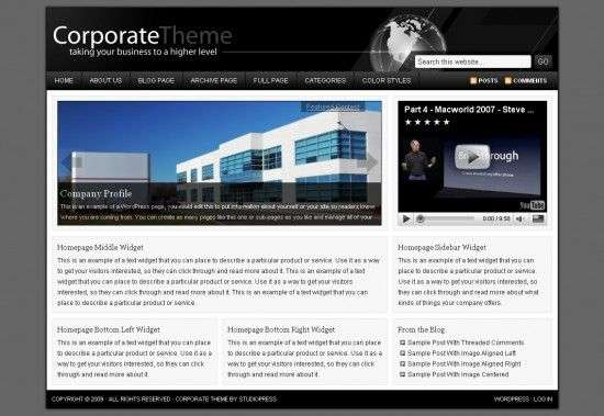 coporate studiopress 550x379 - Corporate WordPress Theme